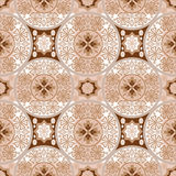 Beige abstract seamless lace pattern Stock Images