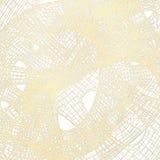 Beige abstraktes Gitter auf einem weißen Hintergrund Stockfotografie