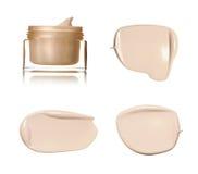 Beige Abstrichfarbe von kosmetischen Produkten Lizenzfreie Stockfotos