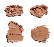 Beige Abstrichfarbe von kosmetischen Produkten Stockbild