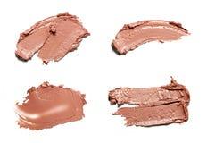 Beige Abstrichfarbe von kosmetischen Produkten Stockfotos