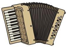 Beige accordion Stock Photo