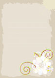 Beige achtergrond met abstracte bloemen. vector illustratie