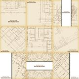 Beige architecture background set Royalty Free Stock Images