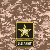 Beige Army camouflage background Stock Photos
