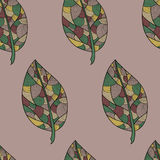 Beige autumn pattern Stock Images