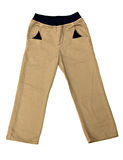 Beige baby trousers Stock Photo