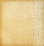 Beige background. With lacy border Royalty Free Stock Photography