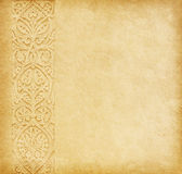 Beige background. Old paper with oriental ornament Royalty Free Stock Photo