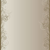 Beige background. With   abstract brown swirls Royalty Free Stock Images