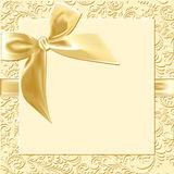 Beige background  bow Royalty Free Stock Images