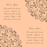 Beige background with brown ornate pattern Royalty Free Stock Images