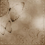 Beige  background with butterfly Royalty Free Stock Images