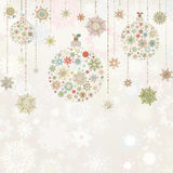 Beige background with christmas balls. EPS 8 Royalty Free Stock Images