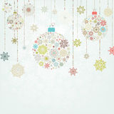 Beige background with christmas balls. EPS 8 Royalty Free Stock Photography