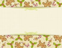 Beige background with christmas elements Stock Photography