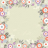 Beige background of color flowers Royalty Free Stock Images