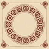 Beige vector background with dark brown frame Stock Images