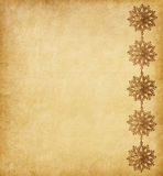 Beige  background  decorated with   snowflakes Royalty Free Stock Photo