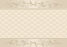Beige background. With floral ornaments Royalty Free Stock Photo