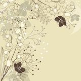 Beige background with forest plants Royalty Free Stock Photos