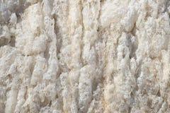 Beige background frozen river foam Stock Photos