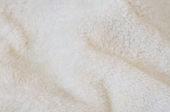 Beige background of plush fabric Royalty Free Stock Images