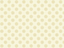 Beige background. With round lace patterns. Bitmap Royalty Free Stock Photo