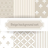 Beige background set Royalty Free Stock Photo