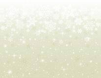 Beige background with snowflakes Stock Image