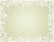 Beige background with snowflakes, vector Stock Photography