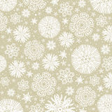 Beige background with snowflakes, vector Stock Photo