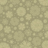 Beige background with snowflakes, vector Royalty Free Stock Images