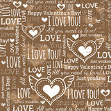 Beige background with  valentine heart Stock Photos