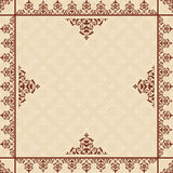 Beige background with victorian ornament - vector Royalty Free Stock Image