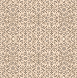 Beige background.Vintage card  on seamless wallpaper. Seamless background with retro pattern. Vector illustration Royalty Free Stock Image