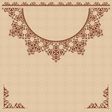 Beige vector background with vintage ornament Stock Photos