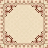 Beige background with vintage ornament - vector Stock Photography