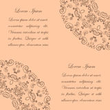 Beige background with vintage ornate pattern Stock Photo