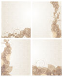 Beige backgrounds with petals pattern Stock Photography