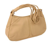 Beige bag Royalty Free Stock Image