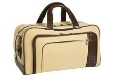 Beige bag Stock Photography