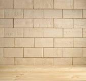 Beige baksteenachtergrond Stock Fotografie