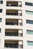 Beige Balconies on Condo Tower Royalty Free Stock Photo