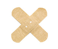 Beige bandaid Stock Photos