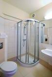 Beige bathroom stock photos
