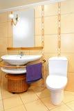 Beige bathroom Royalty Free Stock Photography