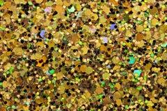 Beige, Black, Green, Pink Glitter. Macro photo of large/medium beige, black, green, pink glitter Royalty Free Stock Photography