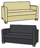 Beige and black sofa Royalty Free Stock Photography