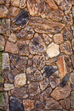 Beige and black stone wall vertical Stock Photography